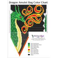 3D Beaded Teal Dragon : Beading Patterns and kits by Dragon!, The