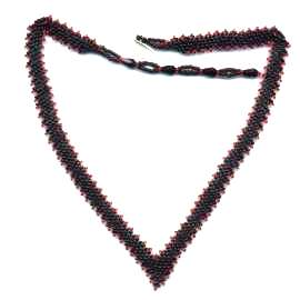 Beaded V-neck Necklace