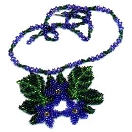 Beaded Blue Flowers