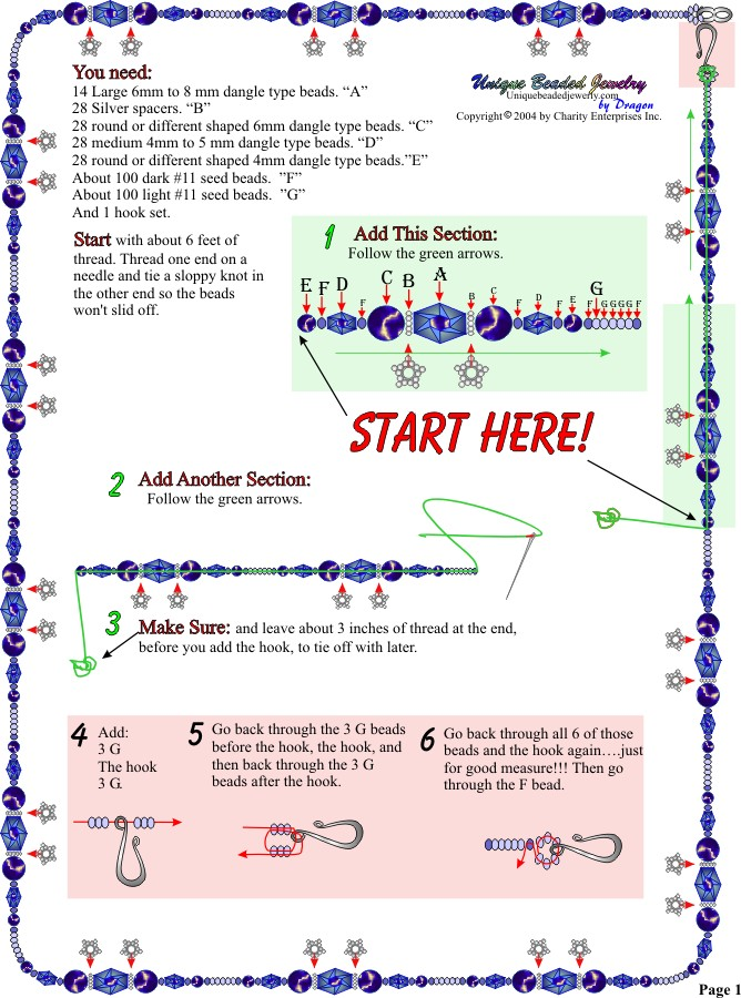 Free Super Easy Bead Necklace Pattern Page 1