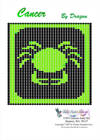 Free Zodiac Cancer Bead Beading Pattern Graph