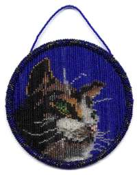 Beaded Cat Suncatcher Ring