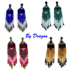 Beaded Earrings Designed with Swarovski Crystals by Bead Wizardry