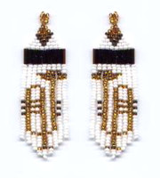 Beaded Horns Fringe Earrings Pattern