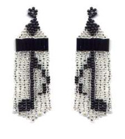 Beaded Music Note Fringe Earrings Pattern