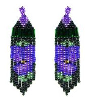 Beaded Pansy Fringe Earrings Pattern