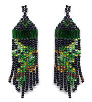 Beaded Parrot Fringe Earrings Pattern
