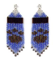 Beaded Paw Print Fringe Earrings Pattern