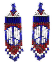 Beaded Peace Fringe Earrings Pattern