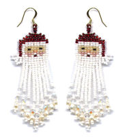Artistic Beaded Fringe Earring Patterns by Dragon