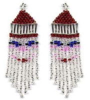 Beaded Santa Fringe Earrings Pattern