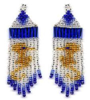 Beaded Seahorse Fringe Earrings Pattern