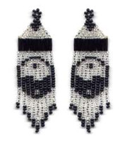 Beaded Ying Yang Fringe Earrinsg Pattern