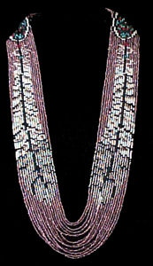 Beading Pattern Feather Sweep Necklace