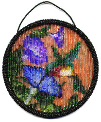 Beaded Hummingbird SunCatcher Ring Pattern