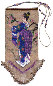 Beaded Japanese Lady Bag Pattern and kit