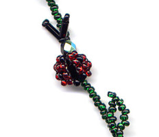 Beaded Lady Bug Necklace Pattern and kit