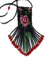 Beaded Little Rose Amulet Bag Pattern and kit information