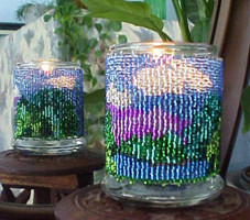 Mountain View Candle Holder Beading Pattern and kit