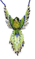 Beaded Parrot Fringe Earring