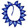 15 Blue Leaf Necklace Beading Pattern and kit information.