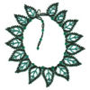 15 Teal Leaf Necklace Beading Pattern and kit information.