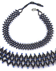 Beaded Simple Accordion Necklace