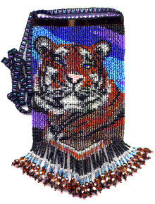 Beaded Happy Tiger Bag Pattern and kit