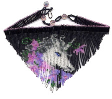 Unicorn Fringe Necklace Beading Pattern