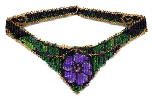 Beaded Violet Weave Necklace