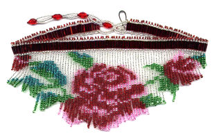 Beaded Rose White Fringe Necklace Pattern