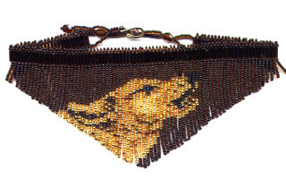 Beaded Wolf Brown Fringe Necklace Pattern